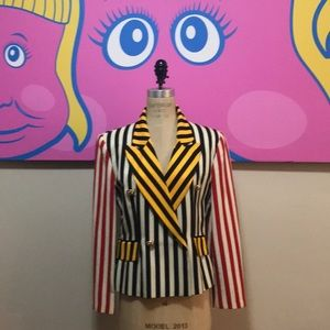 Moschino Cheap Chic Striped Blazer Jacket Vintage